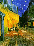 Vincent van Gogh Cafe Terrace at Night (detail)