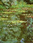 Claude Monet Nympheas 1906 (portrait detail)