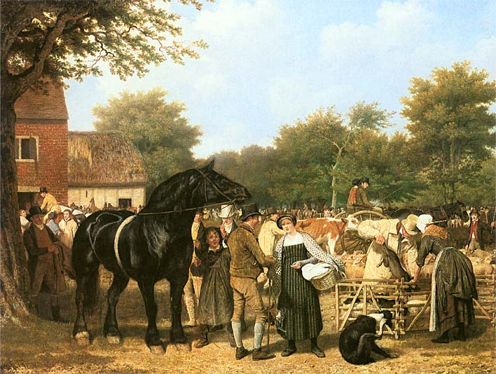 Jacques Laurent Agasse The Country Fair stretched canvas art print