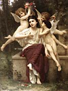 William Bouguereau A Dream Of Spring canvas prints