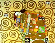 Gustav Klimt Fulfillment Close Up Detail canvas prints