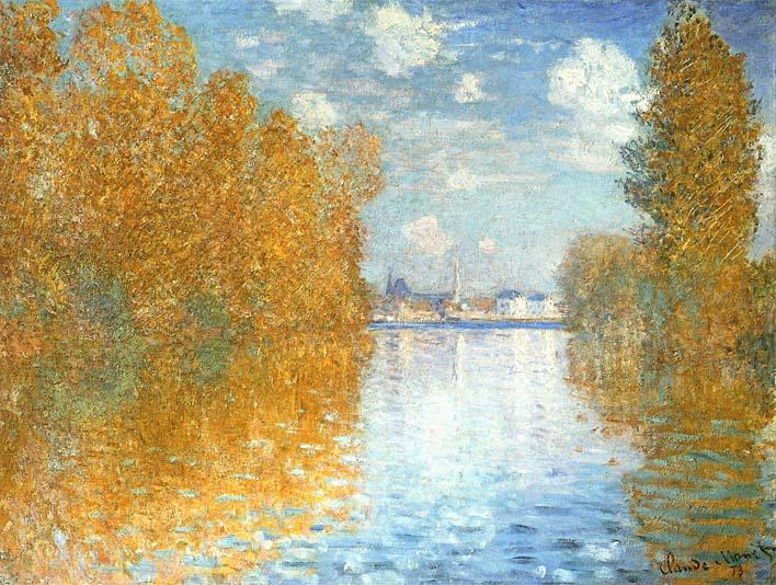 Claude Monet The Seine at Argenteuil, Autumn Effect stretched canvas art print