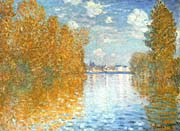 Claude Monet The Seine at Argenteuil, Autumn Effect