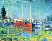Claude Monet Red Boats Argenteuil canvas prints