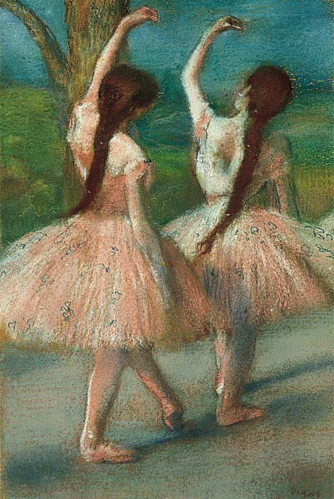 Edgar Degas Dancers in Pink stretched canvas art print
