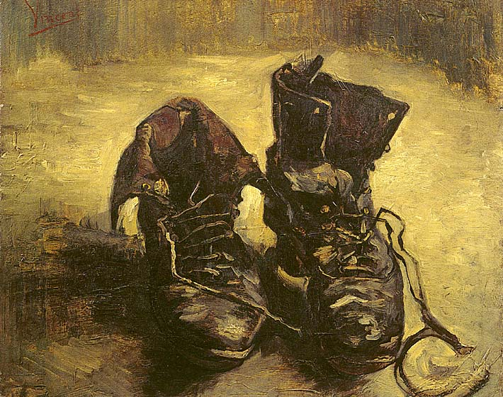 Vincent van Gogh A Pair of Shoes 1886 stretched canvas art print