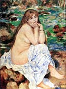 Pierre Auguste Renoir Seated Bather