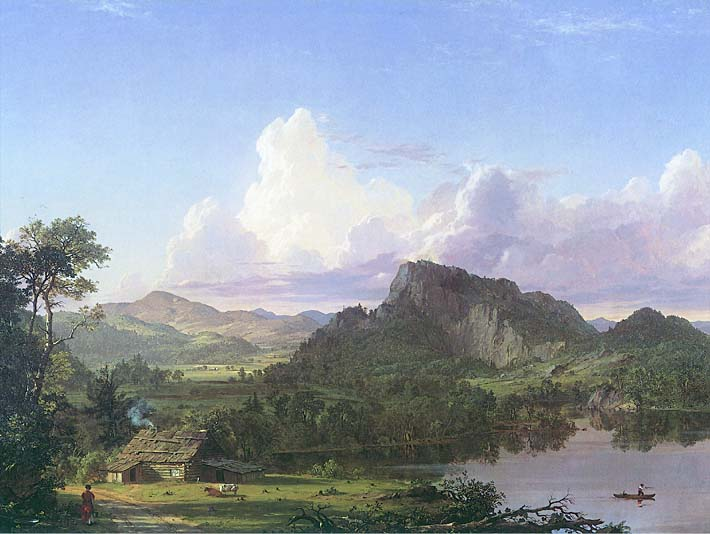 Frederic Edwin Church Home by the Lake stretched canvas art print