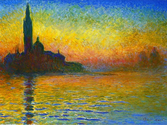 Claude Monet San Giorgio Maggiore at Dusk, Venice stretched canvas art print