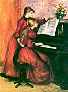 Pierre Auguste Renoir The Piano Lesson canvas prints