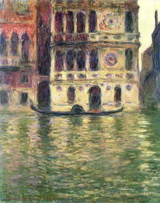 Claude Monet Palazzo Dario stretched canvas art print