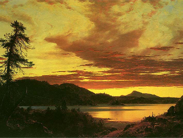 Frederic Edwin Church Sunset (detail) stretched canvas art print