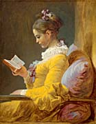 Jean Honore Fragonard A Young Girl Reading