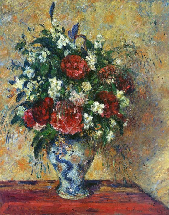 Camille Pissarro Vase of Flowers stretched canvas art print