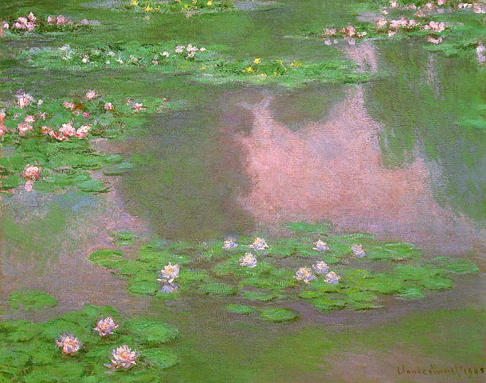 Claude Monet Water-Lilies 1905 (detail) stretched canvas art print