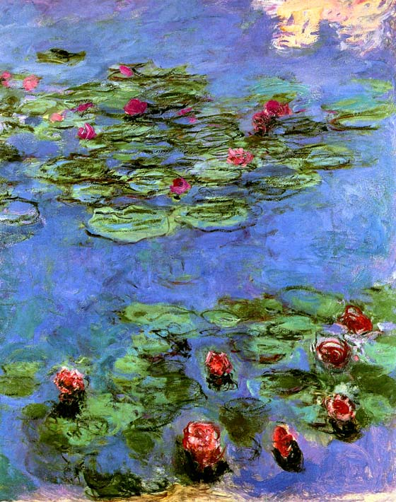 Claude Monet Water-Lilies 1914 stretched canvas art print