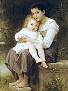 William Bouguereau Big Sister canvas prints