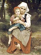 William Bouguereau Breton Brother and Sister