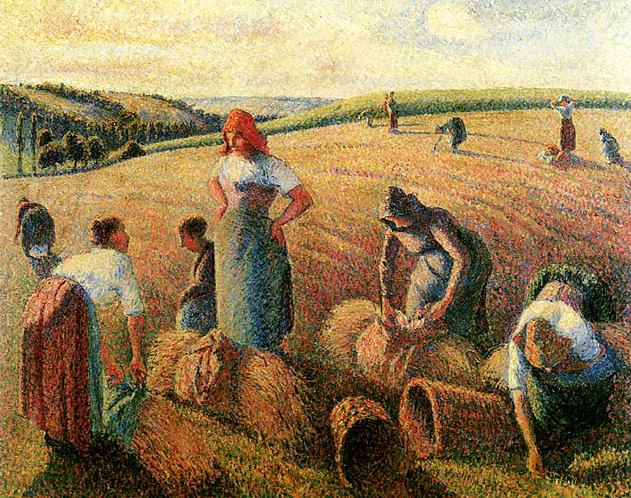 Camille Pissarro The Gleaners stretched canvas art print