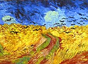 Vincent Van Gogh Wheat Field With Crows Detail canvas prints
