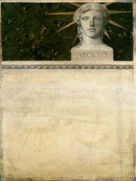 Gustav Klimt Poster Design, International Exhibition stretched canvas art print