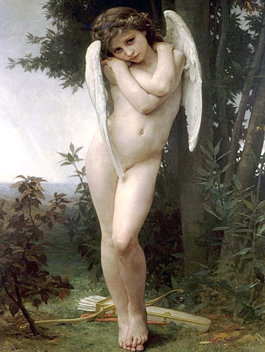 William Bouguereau Cupidon stretched canvas art print
