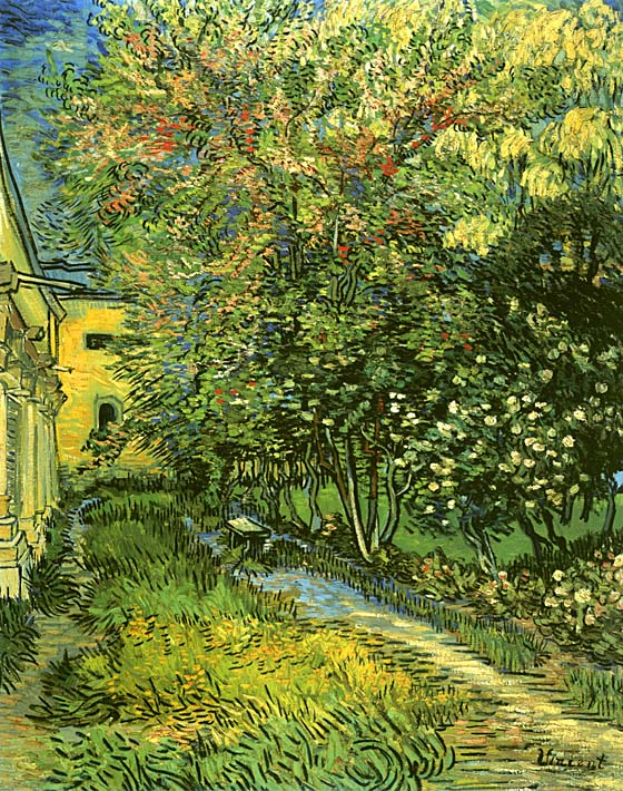Vincent van Gogh The Garden of Saint-Paul Hospital stretched canvas art print