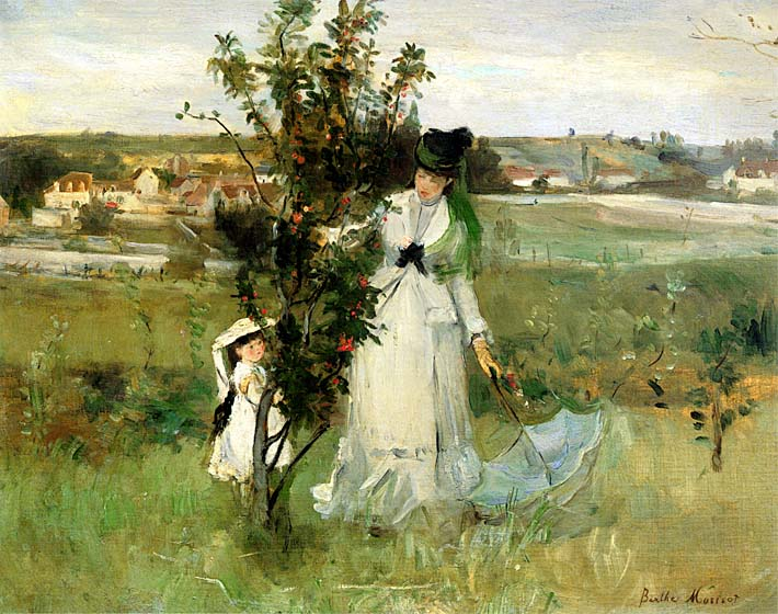 Berthe Morisot Hide and Seek stretched canvas art print