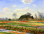 Claude Monet Tulip Fields at Sassenheim, near Leyden