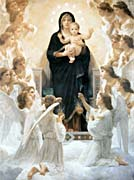 William Bouguereau The Virgin With Angels canvas prints
