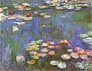 Claude Monet Water Lilies 1916 Detail canvas prints
