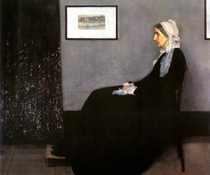 James Abbott McNeill Whistler Arrangement in Grey and Black: Portrait of the Artist's Mother stretched canvas art print