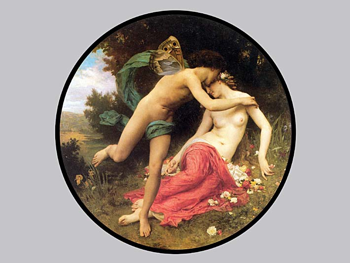 William Bouguereau Flora and Zephyr stretched canvas art print