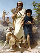 William Bouguereau Homer and His Guide