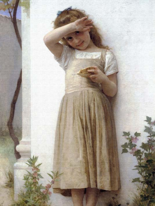 William Bouguereau In Penitence stretched canvas art print