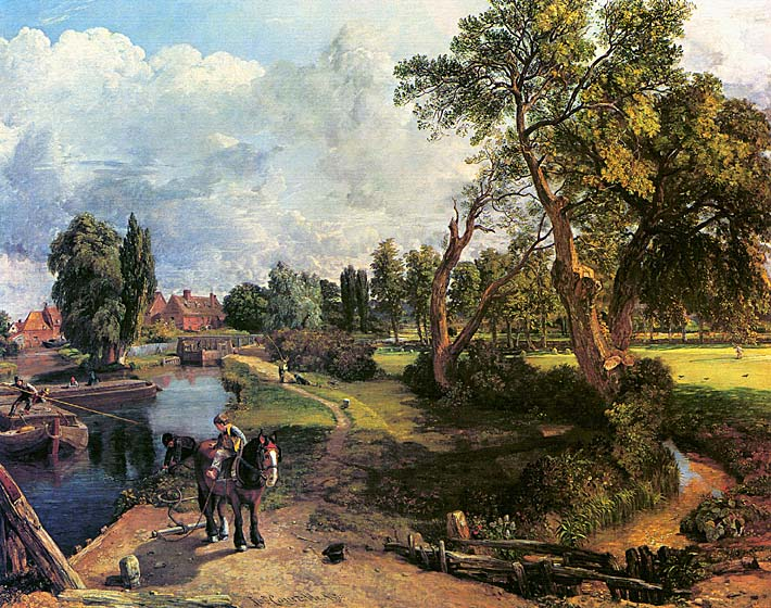 John Constable Flatford Mill, on the River Stour stretched canvas art print