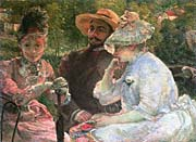 Marie Bracquemond On The Terrace At Sevres canvas prints