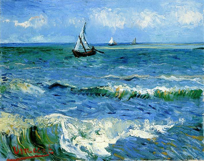 Vincent van Gogh The Sea at Les Saintes Maries de la Mer stretched canvas art print
