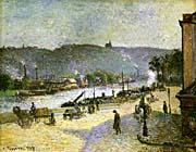 Camille Pissarro The Quays At Rouen canvas prints