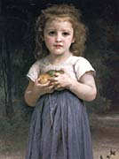William Bouguereau Little Girl Holding Apples