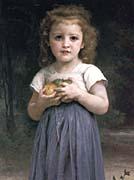 William Bouguereau Little Girl Holding Apples canvas prints