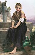 William Bouguereau The Broken Pitcher canvas prints