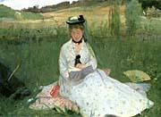 Berthe Morisot Reading Detail canvas prints