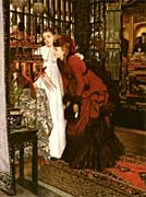James Tissot Young Ladies Looking at Japanese Objects