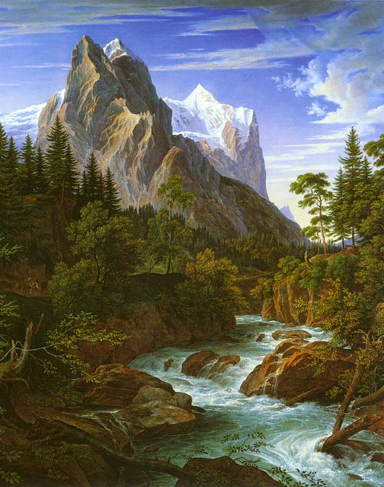 Joseph Anton Koch The Wetterhorn with the Reichenbachtal stretched canvas art print