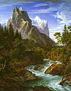Joseph Anton Koch The Wetterhorn With The Reichenbachtal canvas prints
