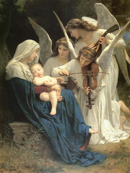 William Bouguereau Song of the Angels stretched canvas art print