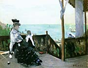 Berthe Morisot In A Villa At The Seaside canvas prints