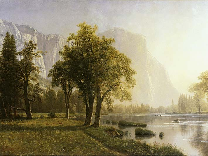 Albert Bierstadt El Capitan, Yosemite Valley, California stretched canvas art print