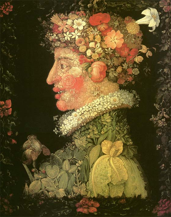 Giuseppe Arcimboldo Spring stretched canvas art print